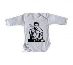Roupa Bebê manga longa Elvis Presley guitar