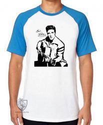 Camiseta Raglan Elvis Presley guitar