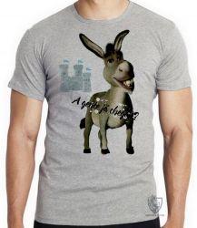 Camiseta Infantil Shrek burro