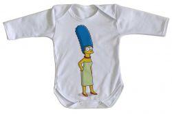 Roupa Bebê manga longa Simpsons Marge