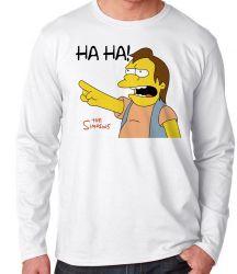 Camiseta Manga Longa Simpsons Nelson