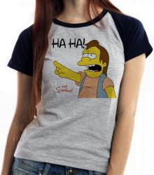 Blusa Feminina Simpsons Nelson
