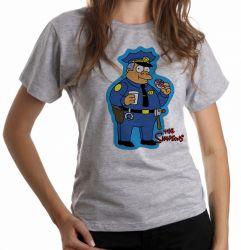 Blusa Feminina Simpsons Policial