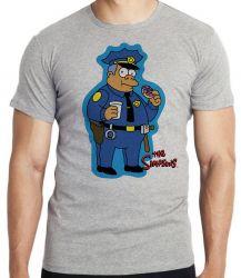 Camiseta Simpsons Policial