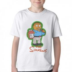 Camiseta Infantil Simpsons Ralph