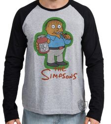 Camiseta Manga Longa Simpsons Ralph