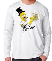 Camiseta Manga Longa Simpsons Sir Homer
