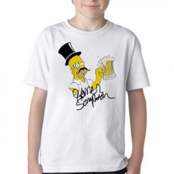 Camiseta Infantil Simpsons Sir Homer