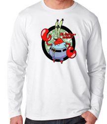 Camiseta Manga Longa Sirigueijo Bob Esponja