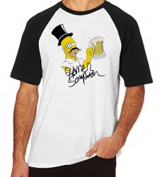 Camiseta Raglan Simpsons Sir Homer