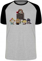 Camiseta Raglan South Park Super Herois