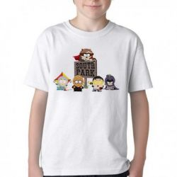 Camiseta Infantil South Park Super Herois