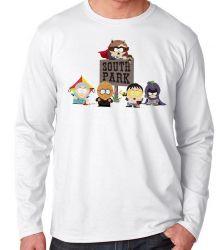 Camiseta Manga Longa South Park Super Herois