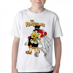 Camiseta Infantil The flinstones casamento