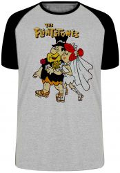 Camiseta Raglan The flinstones casamento