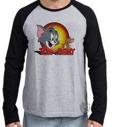 Camiseta Manga Longa Tom and Jerry
