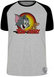 Camiseta Raglan Tom and Jerry