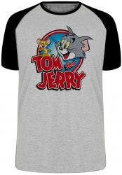 Camiseta Raglan Tom and Jerry desenho