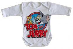 Roupa Bebê manga longa Tom and Jerry desenho