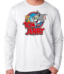 Camiseta Manga Longa Tom and Jerry desenho