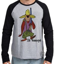 Camiseta Manga Longa Zé Buscapé