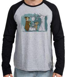 Camiseta Manga Longa Zé Colméia e Catatau