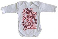 Roupa Bebê manga longa Quando Você Abraça Mundo Gira