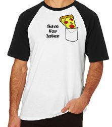 Camiseta Raglan Pizza Save for later