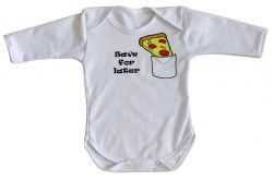 Roupa Bebê manga longa Pizza Save for later