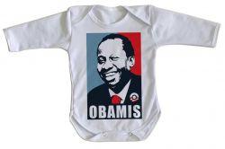 Roupa Bebê manga longa Mussum Obamis