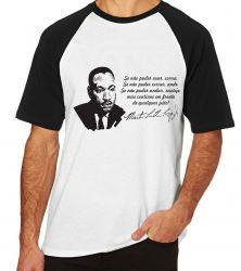Camiseta Raglan Martin Luther King frase