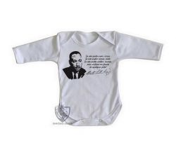 Roupa Bebê manga longa Martin Luther King frase