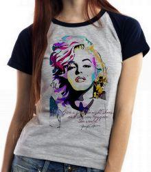 Blusa Feminina Marilyn Monroe frase