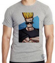 Camiseta Infantil Johnny Bravo cabelo