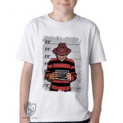 Camiseta Infantil  Freddy Krueger preso