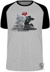Camiseta Raglan Fúria da Noite Fúria Luminosa