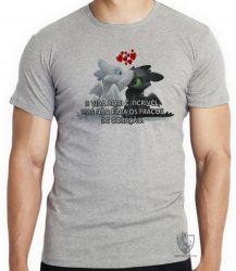 Camiseta Infantil Fúria da Noite Fúria Luminosa