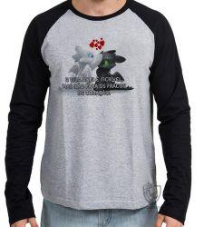 Camiseta Manga Longa Fúria da Noite Fúria Luminosa