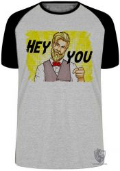 Camiseta Raglan Hipster Hey you