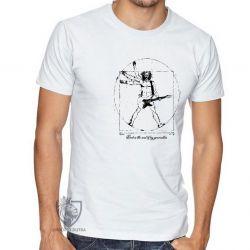Camiseta Homem Vitruviano Rock