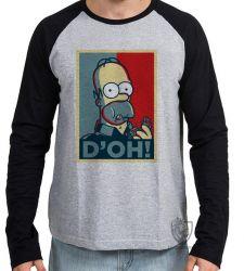 Camiseta Manga Longa Homer Simpsons D