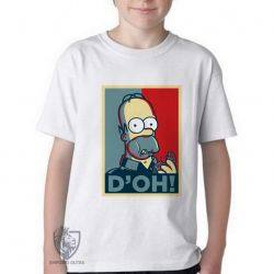 Camiseta Infantil Homer Simpsons D