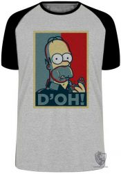 Camiseta Raglan Homer Simpsons D