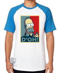 Camiseta Raglan Homer Simpsons D'oh