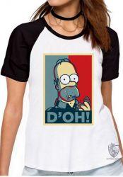 Blusa Feminina Homer Simpsons D'oh
