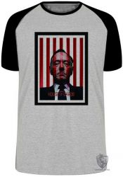 Camiseta Raglan House of Cards listras