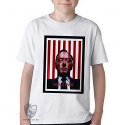 Camiseta Infantil  House of Cards listras