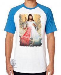 Camiseta Raglan Jesus meu Guia