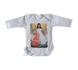 Roupa Bebê manga longa Jesus meu Guia