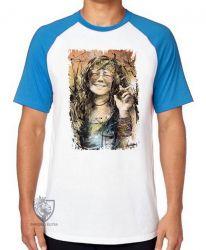 Camiseta Raglan Janis Joplin